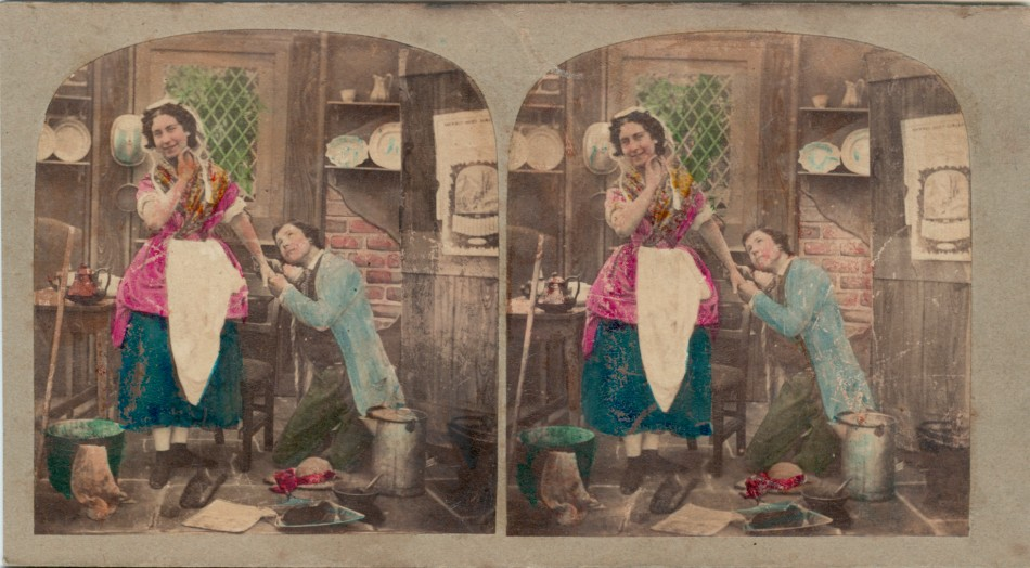1860 The Thief Captured handtinted