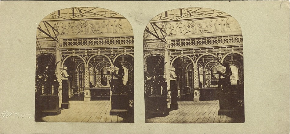 3D 1855 Crystal Palace the  Elisabethian court