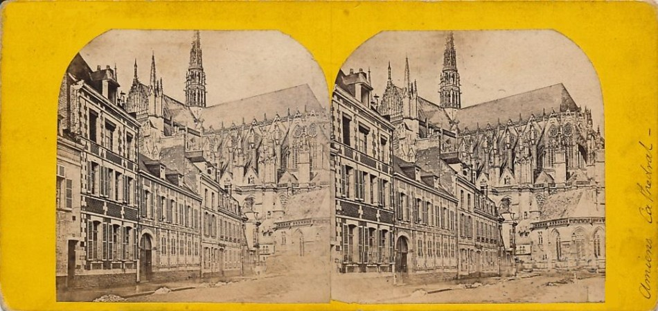 3D 1870 Amiens Cathedrale