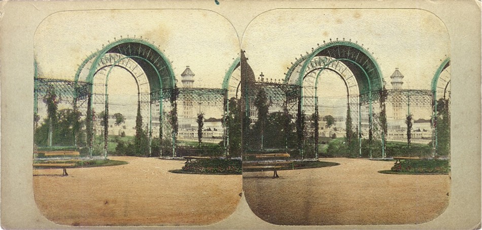 3D 1870 Crystal Palace View from the rosery